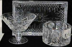 022268 WATERFORD CUT CRYSTAL COMPOTE COOLER  TRAY