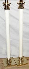 011395 STIFFEL FLOOR LAMPS H57 LEATHER SHAFTS