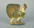 Carved standing rooster 19th c