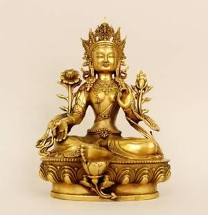 Oriental Brass Tiebtan Diety Figure