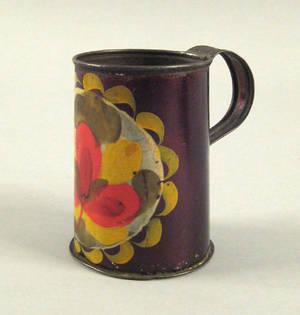 Tole mug 19th c