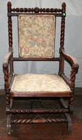 020346 VICTORIAN MAHOGANY PLATFORM ROCKING CHAIR