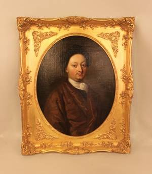 18th C Oil on Canvas  Portrait of a Man