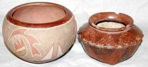 021453 NATIVE AMERICAN INDIAN POTTERY POTS