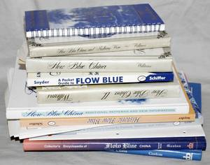 011481 BOOKS ON FLOW BLUE CHINA APPROX 12