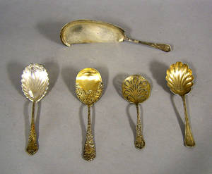 Group of American sterling silver serving utensils