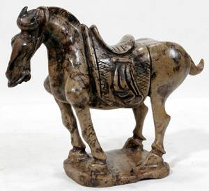 020449 CHINESE CARVED STONE FIGURE TANG STYLE HORSE