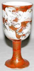 022447 JAPANESE KUTANI PORCELAIN WEDDING CUP C1880