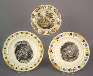Pair of pearlware chargers early 19th c