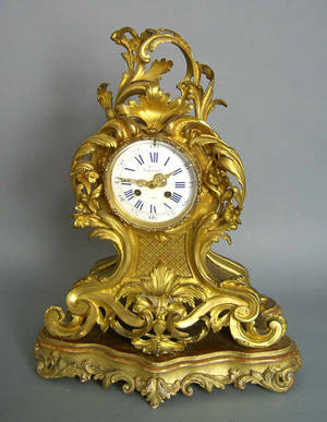 Marti et Cie gilt bronze mantle clock