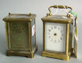 Two French carriage clocks