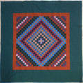 Amish pieced quilt mid 20th c