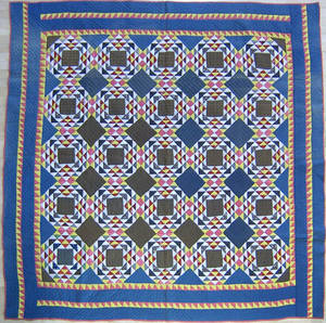 Pennsylvania goose and pond pieced quilt late 19th c