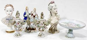 031698 HANDPAINTED POTTERY  PORCELAIN DECOR PIECES