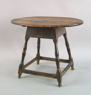New England Queen Anne maple tavern table ca 1745