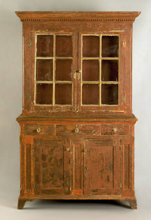 Pennsylvania pine Dutch cupboard ca 1800