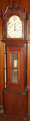 041041 SILAS HOADLEY AMERICAN CHERRY TALL CASE CLOCK