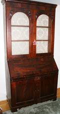 040053 VICTORIAN MAHOGANY SECRETARY DESK C 19TH C
