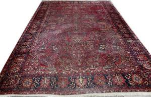 022012 SAROUK WOOL PERSIAN CARPET C194070