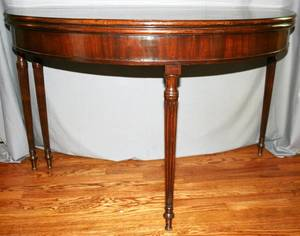 020054 SHERATON MAHOGANY FLIPTOP CARD TABLE C1830