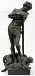 011050 HYPPOLYTE FRANOIS MOREAU BRONZE SCULPTURE