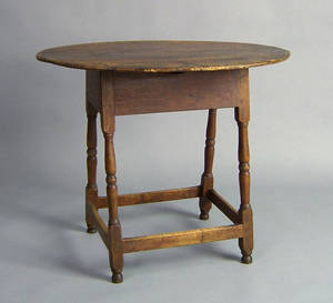 New England pine and birch tavern table mid 18th c