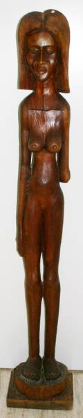 122035 ROBERT ROGER FRANCOIS CARVED WOOD NUDE FEMALE