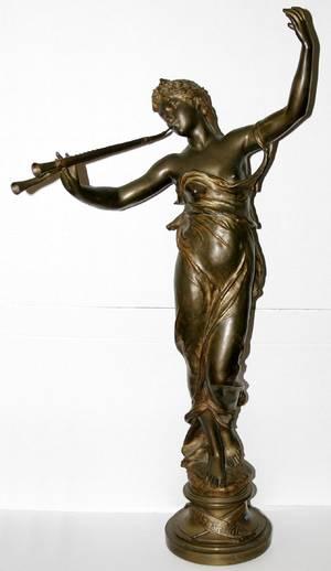 111010 EUGENE MARIOTON BRONZE MUSES DES BOIS