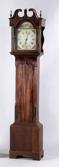 Federal mahogany tall case clock ca 1810