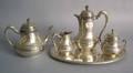 German 800 silver 5pc tea service by Krischer