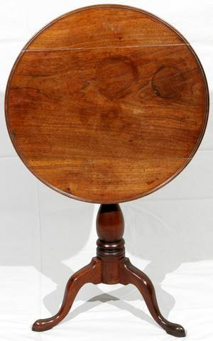 091147 ENGLISH MAHOGANY TILTTOP TABLE LATE 19TH C