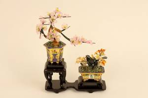 Two Chinese Miniature Trees