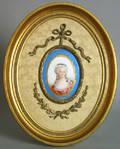 Two painted porcelain portraits