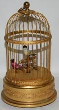 081192 REUGE SWISS BIRD CAGE AUTOMATONMUSIC BOX