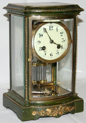 081189 L MARTI ET CIE FRENCH BRONZE MANTEL CLOCK