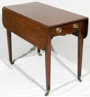 051157 ENGLISH MAHOGANY DROPLEAF PEMBROKE TABLE