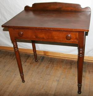 091214 AMERICAN CHERRY SINGLE DRAWER END TABLE