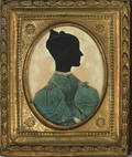 American printed and hollow cut silhouette 19th c