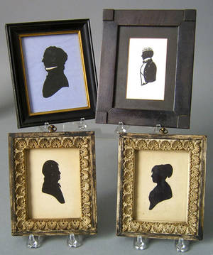 Pair of hollowcut silhouettes ca 1800