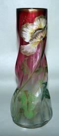 050162 ART NOUVEAU ART GLASS VASE C189095