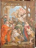 071257 WALL TAPESTRY AFTER RUBENS NATIVITY SCENE
