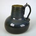 Dutch black glass handled jug late 18th c