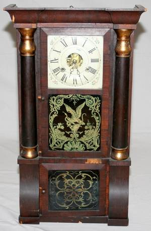 062138 SETH THOMAS AMERICAN MAHOGANY MANTLE CLOCK