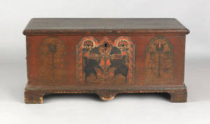 Berks County Pennsylvania painted pine dower chest ca 1785