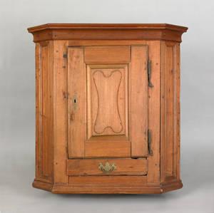 Lancaster County Pennsylvania walnut hanging corner cupboard ca 1770
