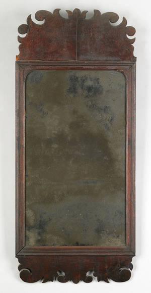George I mahogany looking glass ca 1720