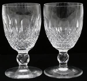 051244 WATERFORD COLLEEN CUT CRYSTAL WINE GOBLETS