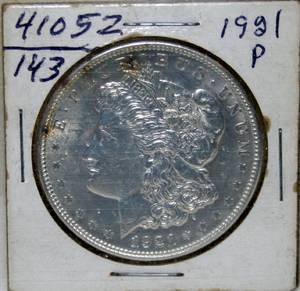 050220 MORGAN SILVER 1 DOLLAR COIN 1921P