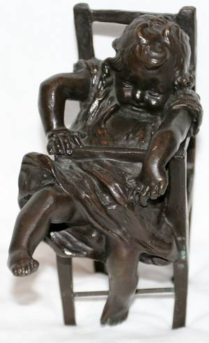 091280 BRONZE FIGURAL SCULPTURE OF A CHILD H58