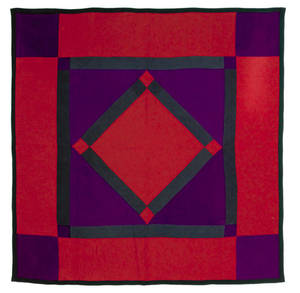 Amish center diamond quilt early 20th c